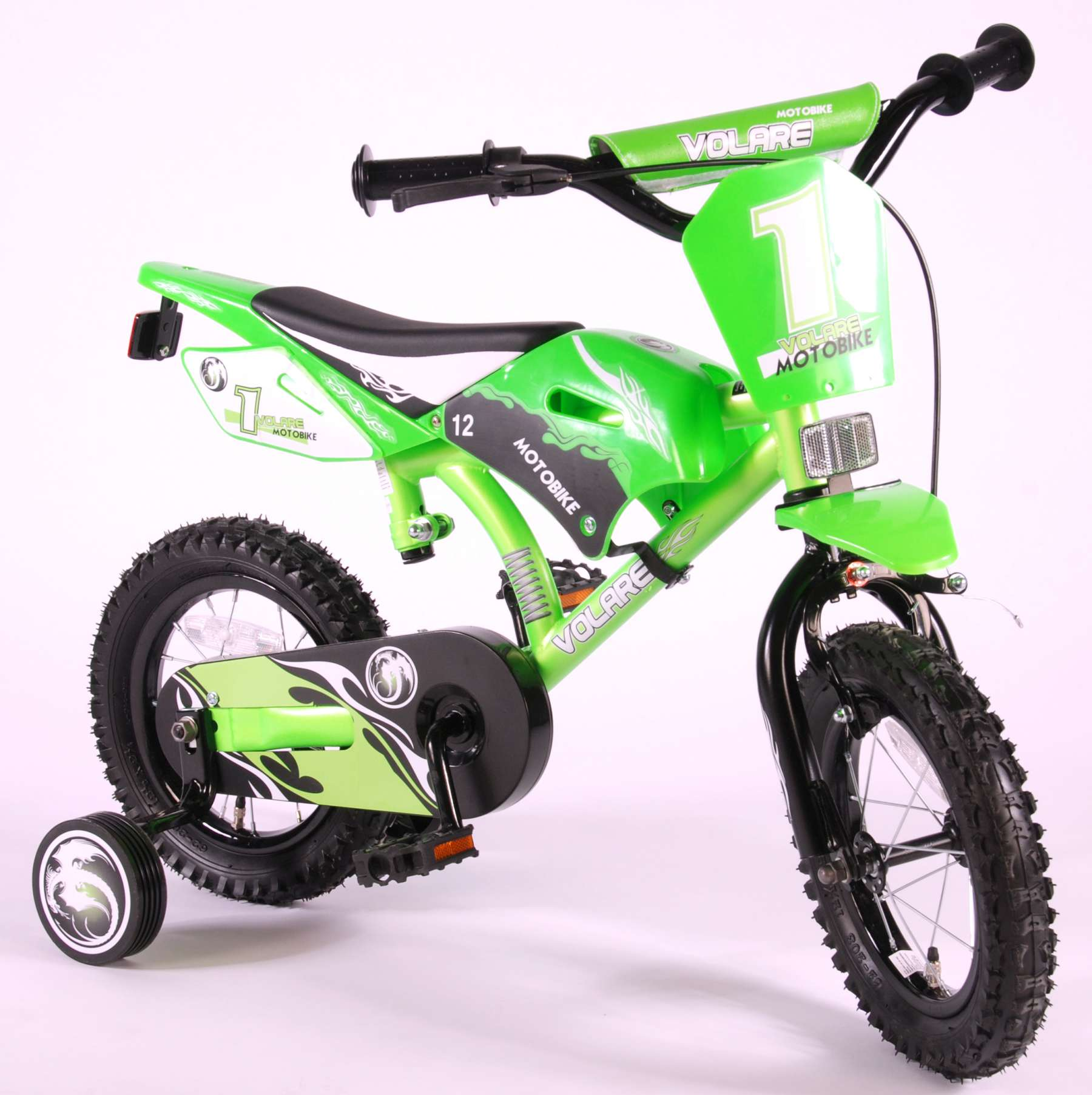 Boys 20 Inch Bike >> Volare Motobike Green 12 inch boys bicycle