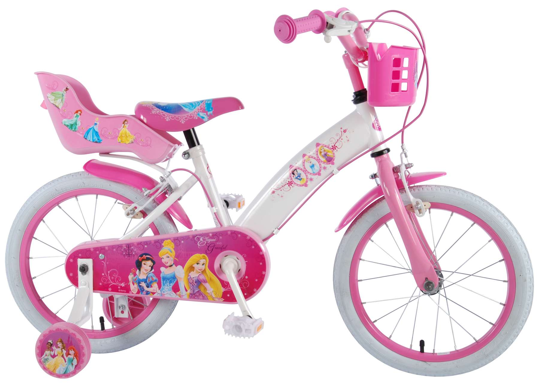 78df61196a1 Disney Princess 16 inch girls bicycle with two handbrakes