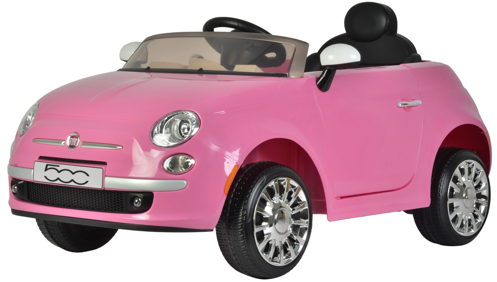 Fiat 500cc Pink Electric Car With Remote Control 12 Volt