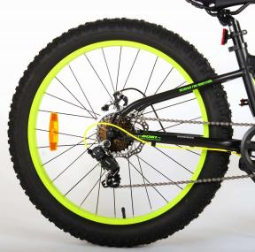 Volare Gradient Children's Bicycle – Boys – 24 inch – Black Green Yellow – 7 speed – Prime Collection