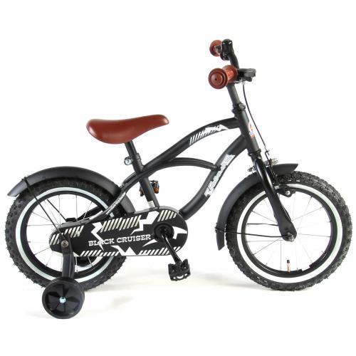Volare Black Cruiser Children's Bicycle - Boys - 14 inch - Black - 95% assembled
