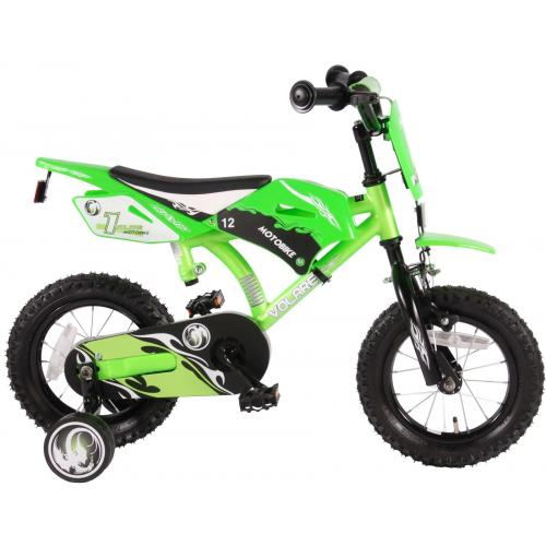 Volare Motobike Children's Bicycle - Boys - 12 inch - Green - 95% assembled