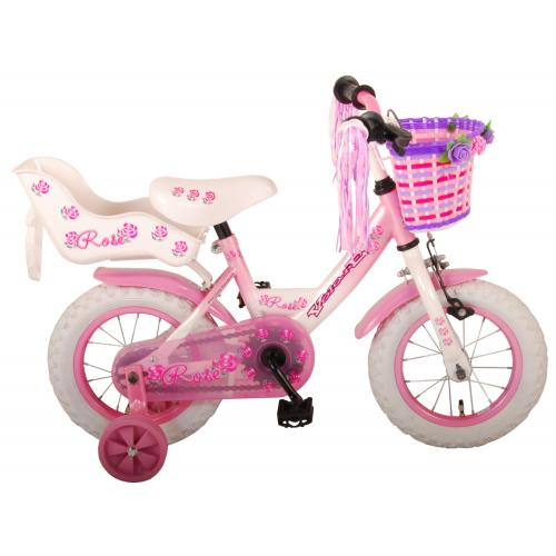 Volare Rose Children's Bicycle - Girls - 12 inch - Pink - 95% assembled
