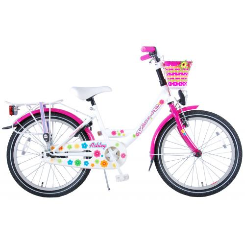 Volare Ashley Children's Bicycle - Girls - 20 inch - White / Pink - 95% assembled