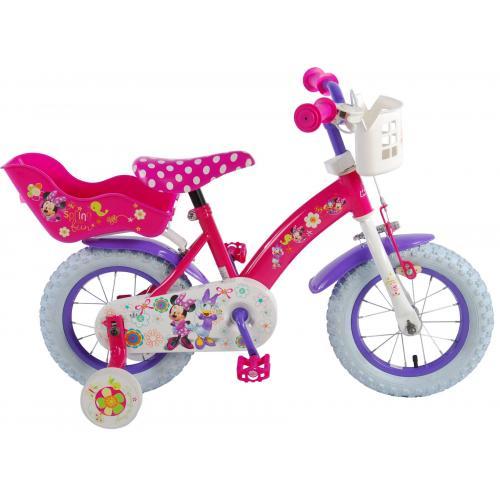 Disney Minnie Bow-Tique Children's Bicycle - Girls - 12 inch - Pink White
