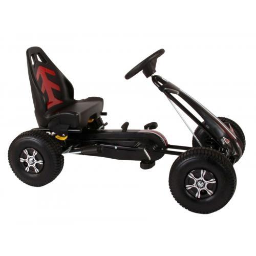 Volare Go Kart Racing Car - boys - big - pneumatic tires - black
