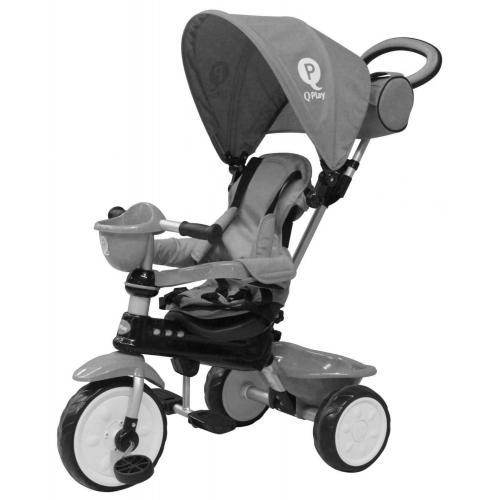 QPlay Tricycle Comfort 4 in 1 - Boys and Girls - Grey