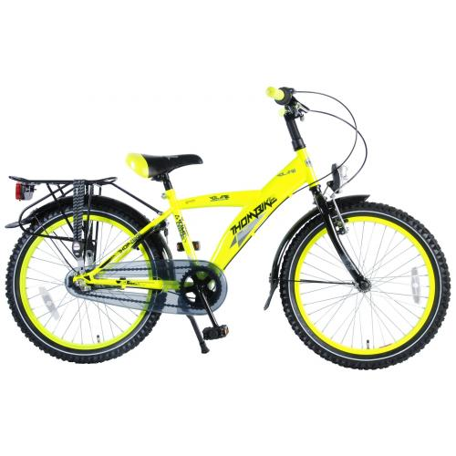 Volare Thombike City Children's Bicycle - Boys - 20 inch - Neon Yellow - 95% assembled - Shimano Nexus 3 gears