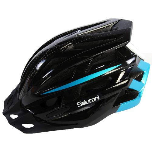 Salutoni Men's bike Helmet Black Blue 58-61 cm