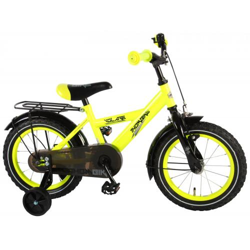 Volare Thombike Children's Bicycle - Boys - 14 inch - Neon Yellow - 95% assembled