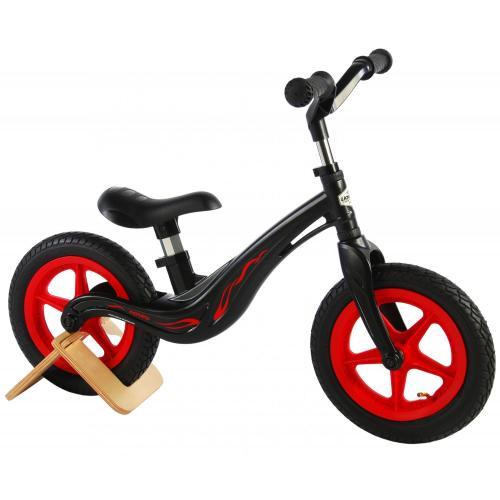 Volare Magnesium Balance Bike - Boys and Girls - 12 inch - Black