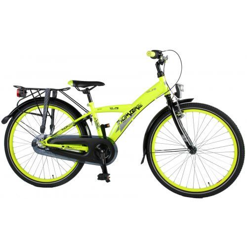 Volare Thombike City Children's Bicycle - Boys - 24 inch - Neon Yellow - Shimano Nexus 3