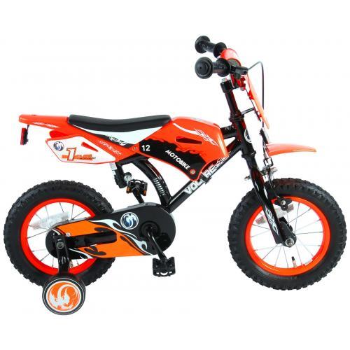 Volare Motorbike Children's Bicycle - Boys - 12 inch - Orange - 95% assembled
