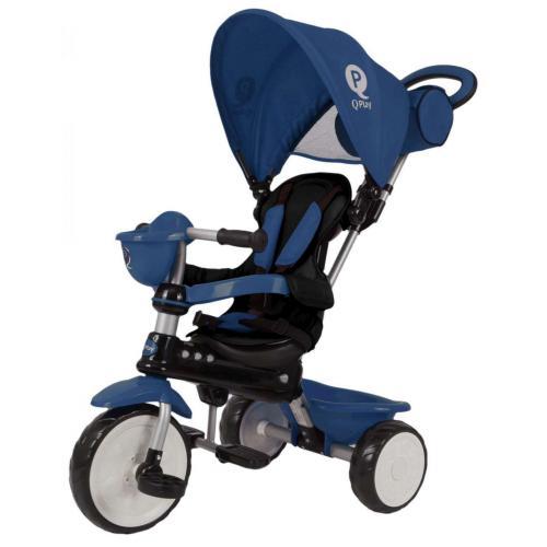 QPlay Tricycle Comfort Dark Blue 4 in 1