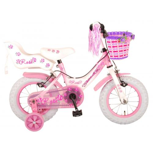 Volare Rose Children's Bicycle - Girls - 12 inch - Pink - 2 hand brakes
