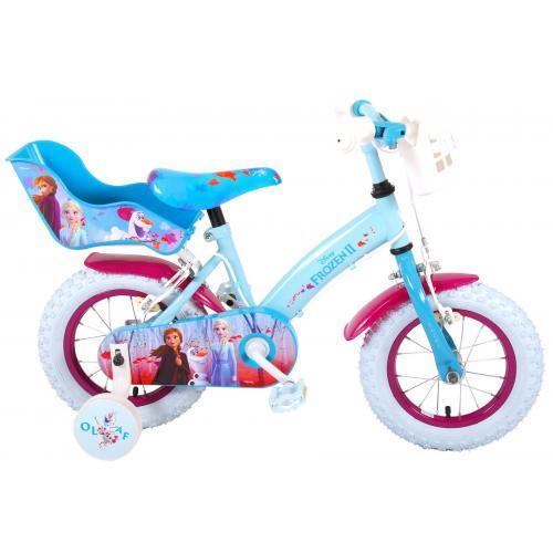Disney Frozen 2 Children's Bicycle - Girls - 12 inch - Blue / Purple - 2 Hand brakes