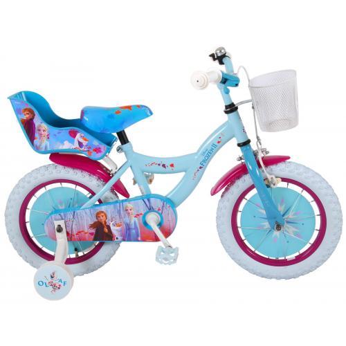 Disney Frozen 2 Children's Bicycle - Girls - 14 inch - Blue / Purple - 95% assembled