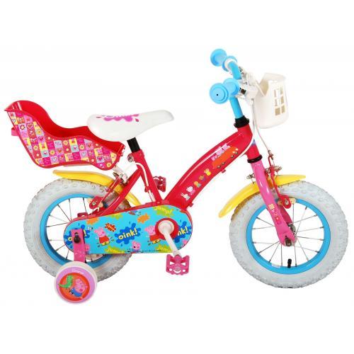 Peppa Pig Children's Bicycle - Girls - 12 inch - Pink - 2 Handbrakes