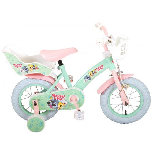 Woezel & Pip Children's Bicycle - Girls - 12 inch - Mint / Pink