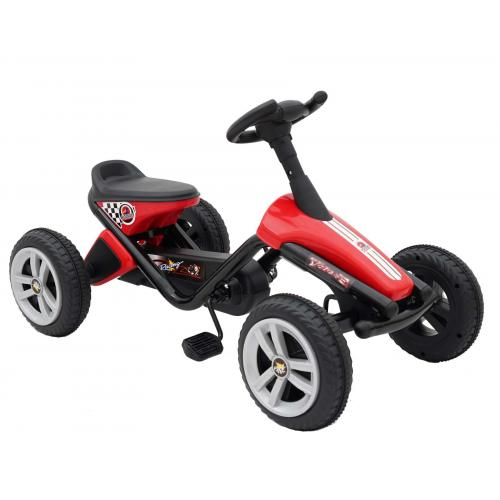 Volare Mini Go Kart - Boys and Girls - Red