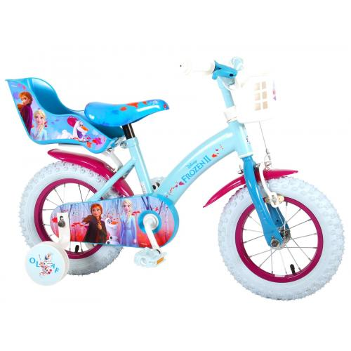 Disney Frozen 2 Children's Bicycle - Girls - 12 inch - Blue / Purple