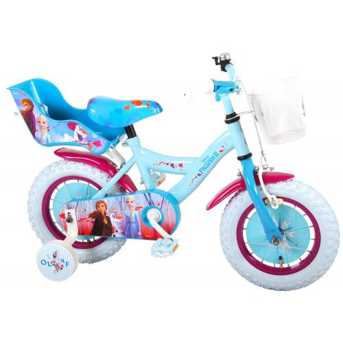 Disney Frozen 2 Children's Bicycle - Girls - 12 inch - Blue / Purple - 95% assembled