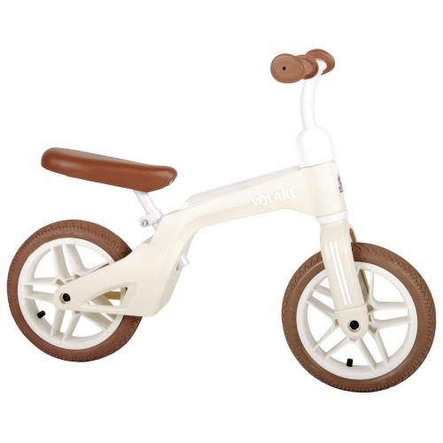 Volare Balance Bike - Boys and Girls - 10 inch - Cream