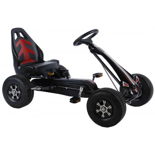 Volare Go Kart Racing Car - boys - big - pneumatic tires - black