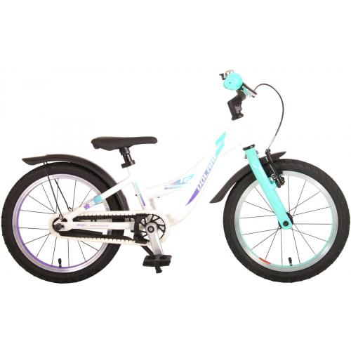 Volare Glamour Children's Bicycle - Girls - 16 inch - Pearl Mint Green - Prime Collection