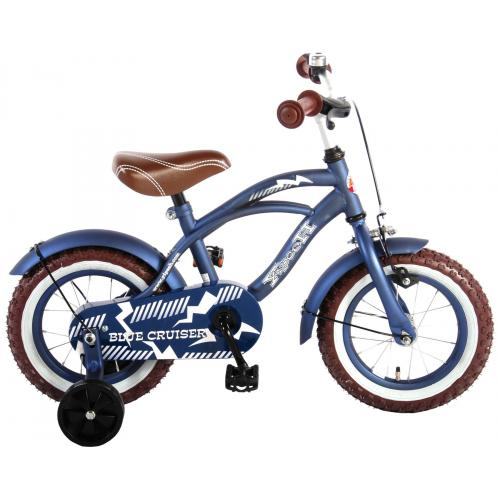 Volare Blue Cruiser Children's Bicycle - Boys - 12 inch - Blue - 95% assembled