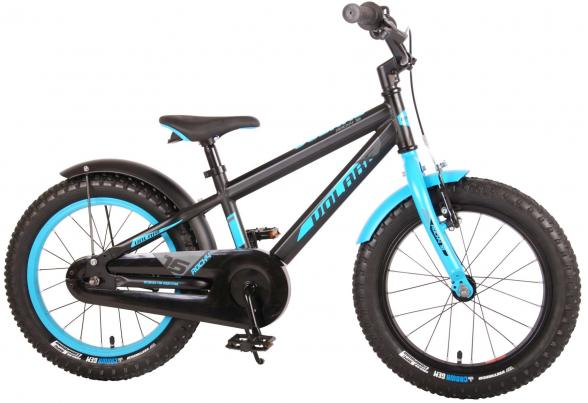 Volare Rocky Children's Bicycle - 16 inch - Black Blue - 95% assembled - Prime Collection