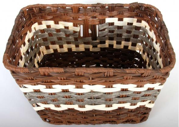 Volare Braided Wicker Bicycle Basket - Large