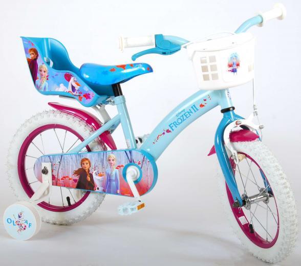 Disney Frozen 2 Children's Bicycle - Girls - 14 inch - Blue / Purple