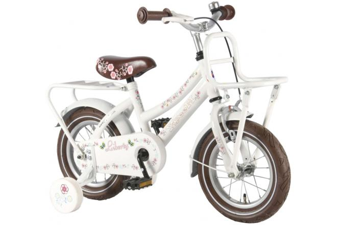 Volare Liberty Urban Children's Bicycle - Girls - 12 inch - White - 95% assembled