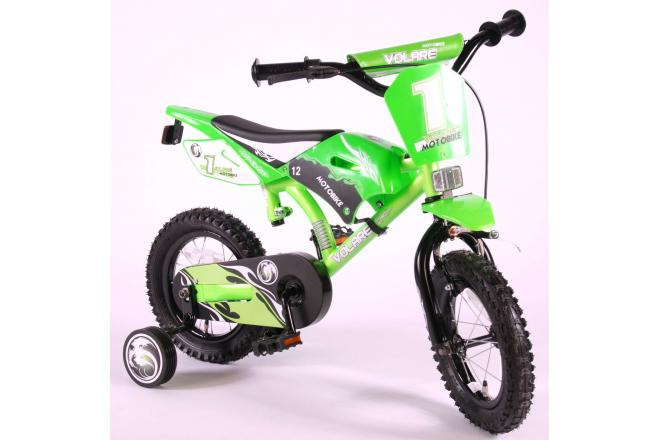 Volare Motobike Children's Bicycle - Boys - 12 inch - Green