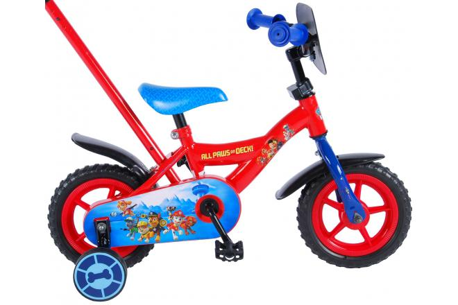 Paw Patrol Children's Bicycle - Boys - 10 inch - Red / Blue