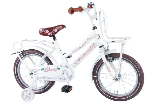 Volare Liberty Urban Flowerie White 16 inch girls bicycle