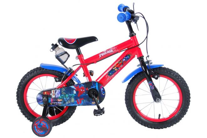 Ultimate Spider-Man Children's Bicycle - Boys - 14 inch - Red Black - 2 hand brakes