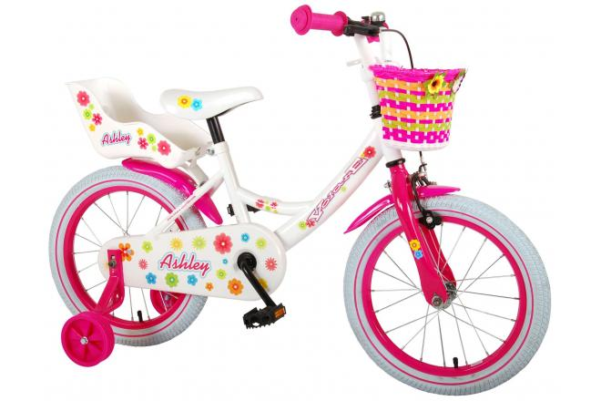 Volare Ashley Children's Bicycle - Girls - 16 inch - White - 95% assembled