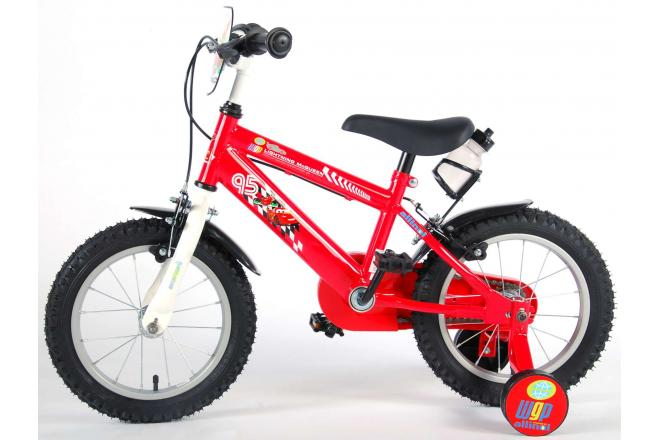 Disney Cars Children's Bicycle - Boys - 14 inch - Red - 2 hand brakes