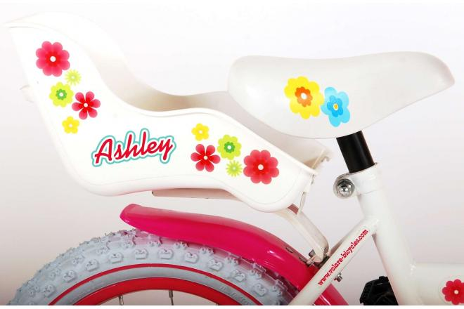 Volare Ashley Children's Bicycle - Girls - 14 inch - White - 95% assembled