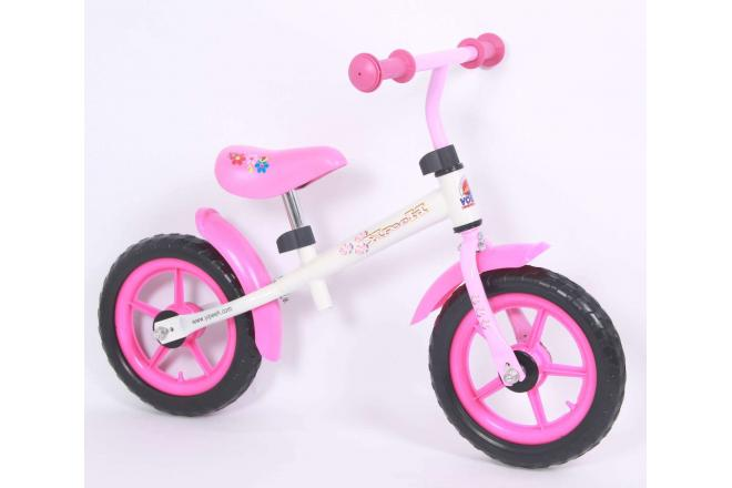 Yipeeh balance bike 12 inch white pink