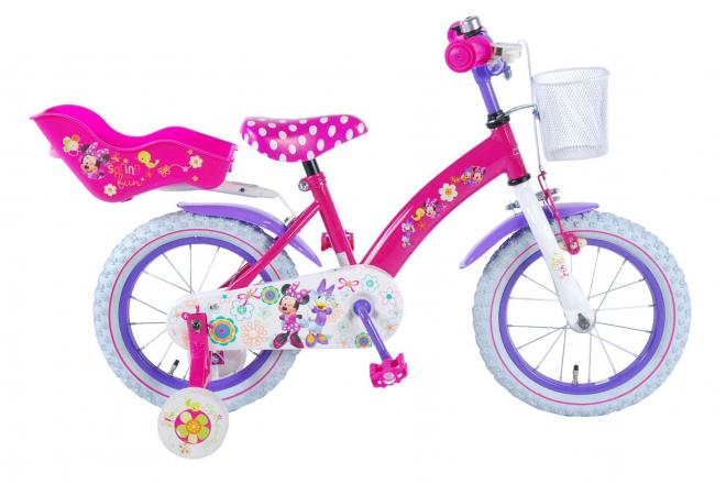 Disney Minnie Bow-Tique Children's Bicycle - Girls - 14 inch - Pink - 95% assembled