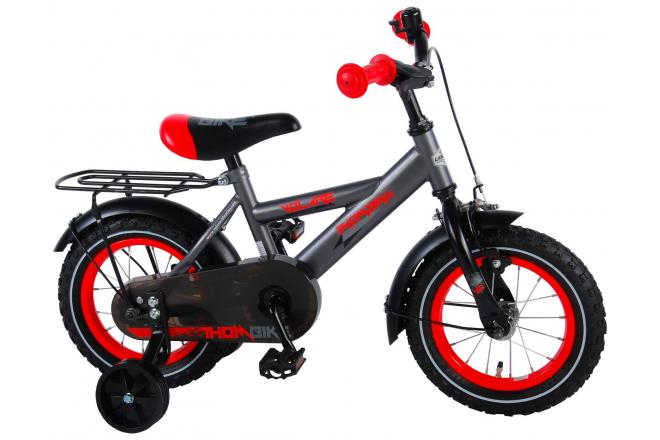 Volare Thombike Satin Grey Red 12 inch Boys Bicycle 95% assembled