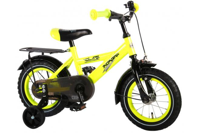 Volare Thombike Neon Yellow 12 inch Boys Bicycle 95% assembled