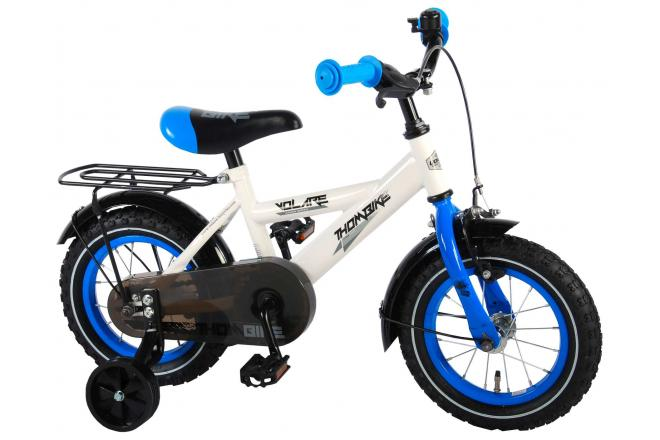 Volare Thombike Children's Bicycle - Boys - 12 inch - White / Blue - 95% assembled