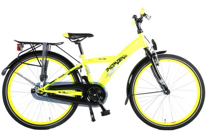 Volare Thombike City Children's Bicycle - Boys - 24 inch - Neon Yellow