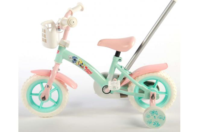 Woezel & Pip Children's Bicycle - Girls - 10 inch - Mint Blue / Pink