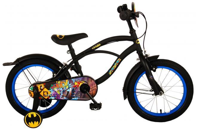 Batman Children's Bicycle - Boys - 16 inch - Black - 2 handbrakes