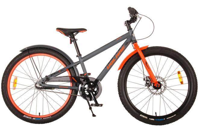 Volare Rocky Children's Bicycle - 24 inch - Grey - Shimano Nexus 3 gears - 95% assembled